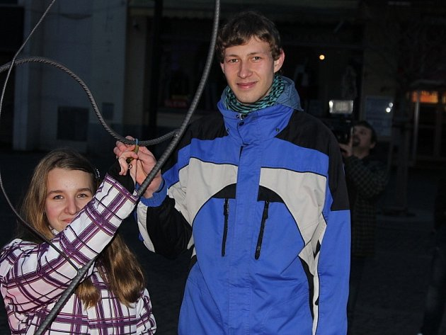 Na Staroměstském náměstí lidé slavili Valentýna