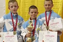 Tým žáků karate Auto Škoda Mladá Boleslav