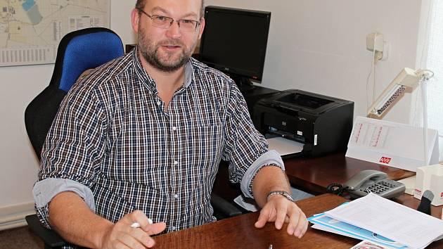 Starosta Dobrovice Tomáš Sedláček.