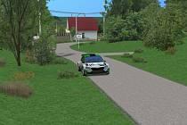 Virtuální Rally Bohemia se jela na skutečných tratích. Snímek z vložky Vinec - Skalsko