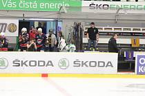 Úprava čeká i střídačky na hokejovém stadionu