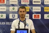 Dominik Mašek po zápase proti Českým Budějovicím