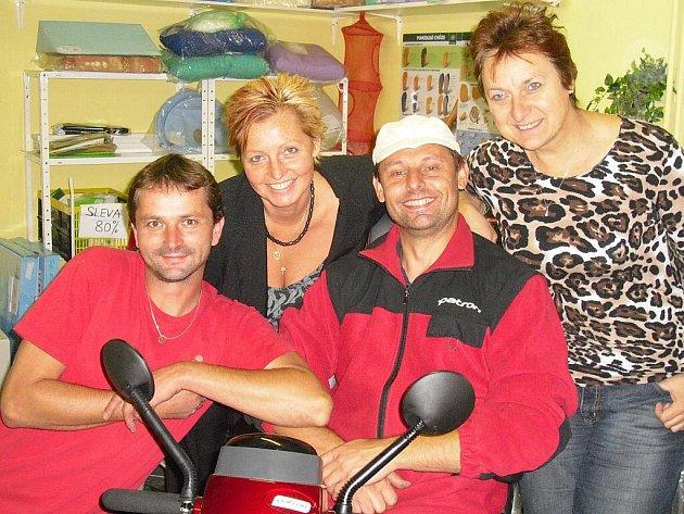 Tým Help centra - Martin Petříček, Robert Mareš, Helena Šádková a Šárka Kurzweilová.