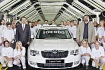 Půlmiliontý vůz Škoda Superb
