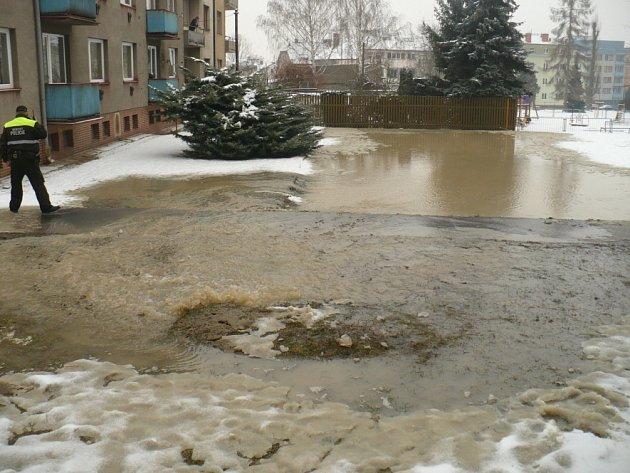 Havárie vody v Táborské ulici