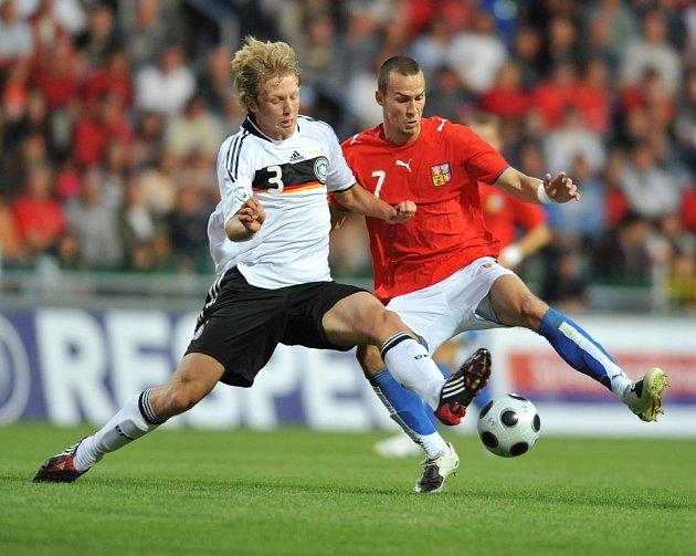 Semifinále Eura 19 mezi Českou republikou a Německem v Mladé Boleslavi.