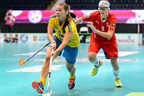 Klára Leierová v zápase proti Švédsku
