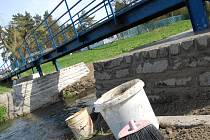Oprava mostu přes Klenici v Mladé Boleslavi