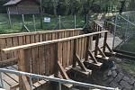 Mostky v benáteckém podzámeckém parku