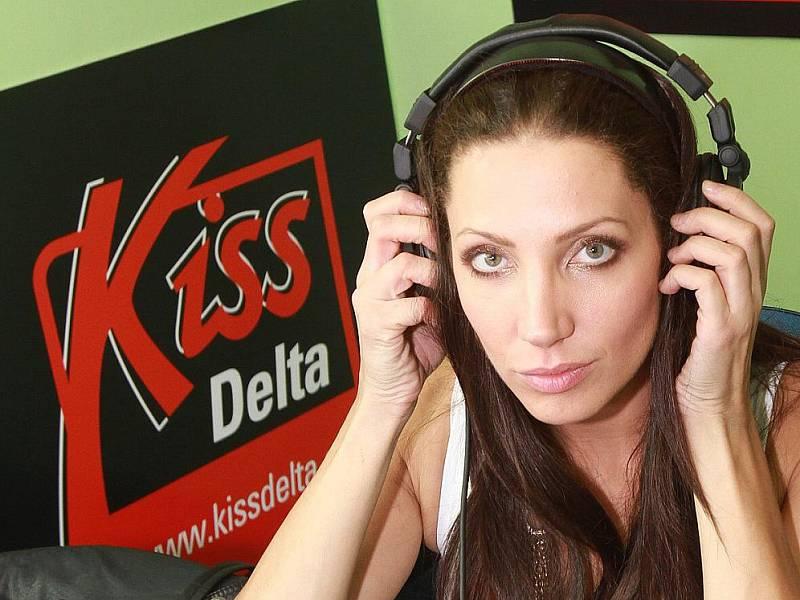 Olga Lounová na dni otevřených dveří rádia Kiss Delta.