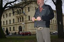 Luboš Dvořák začal svoji túru na Komenského náměstí.