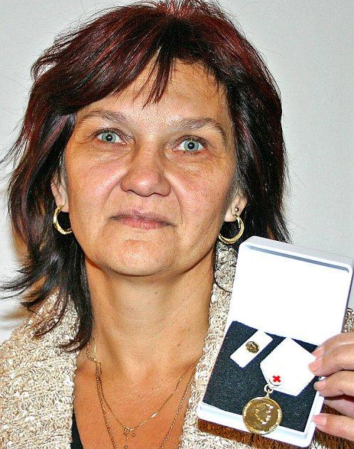 Jedna z oceněných, Jiřina Humpolová.