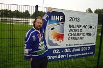 Sportovní redaktor Deníku Jarda Bílek v Drážďanech