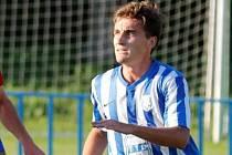 Adam Fotr hned při svém prvním startu za Dobrovici rozhodl utkání ČFL.