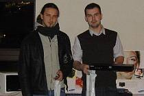 Jindřich Krausz (vpravo) a Tomáš Pospíšil – nejlepší hráči ve druhé kategorii.