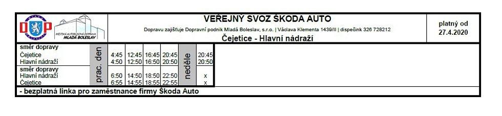 Veřejná doprava - Čejetice