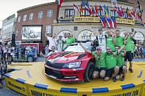 Obrovská radost týmu Škoda Motorsport.