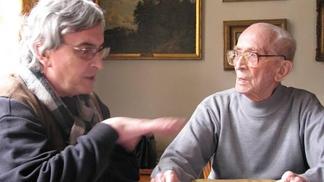 Josef Kettner (vlevo) a Adolf Branald