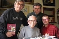 Zleva: Josef Kettner, Adolf  Branald, František Skřípek, Radek Balaš
