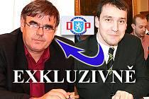 Odvolaný jednatel DP Milan Konopka (vlevo) a Marek Džuvarovský, nový jednatel Dopravního podniku
