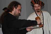 Křes nového CD Flautum Collegium v kostele svatého Bonaventury v Mladé Boleslavi.