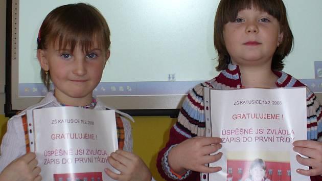 Zápis na základní škole v Katusicích.