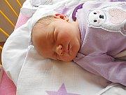 Eliška Vaňoučková se narodila 16. července, vážila 3,29 kg a měřila 49 cm. S maminkou Míšou a tatínkem Tomášem bude bydlet v Bělé pod Bezdězem, kde už se na ni těší sestřička Emička.