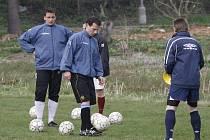 Čtvrteční trénink fotbalistů Bousova