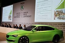 Výroční tisková konference společnosti Škoda Auto.