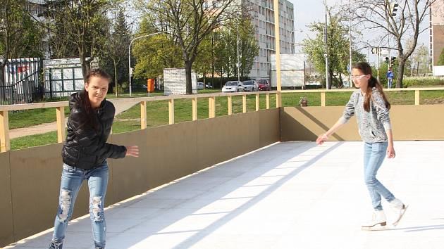 V Mladé Boleslavi se bruslí venku