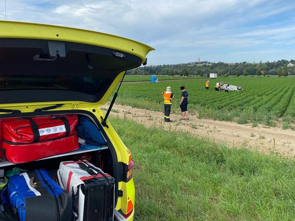 Srážka auta s jezevcem na dálnici D10 v neděli 23. srpna dopoledne.