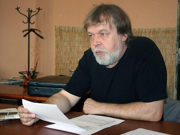 Předseda odborářů Jaroslav Povšík.