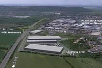 Nová křižovatka sjezd na Průmyslovou zónu Kosmonosy