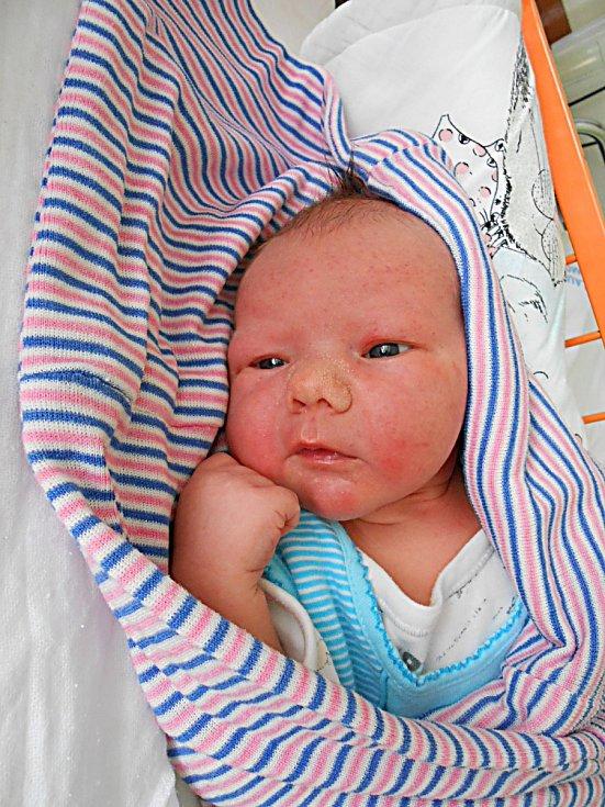 Samík Hanuš se narodil 6. května, vážil 3,72 kg a měřil 53 cm. Maminka Petra a tatínek Honza si ho odvezou domů do Ctiměřic, kde už se na něho těší bráška Jeníček.