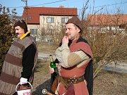 Tradiční masopustní průvod v Žerčicích.