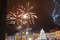 Mladá Boleslav přivítala nový rok zvoněním a ohňostrojem