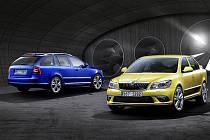 Škoda Octavia RS a Škoda Octavia RS Combi s novou tváří.