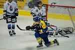 Hokejisté Přerova (v modrém) porazili Benátky nad Jizerou.