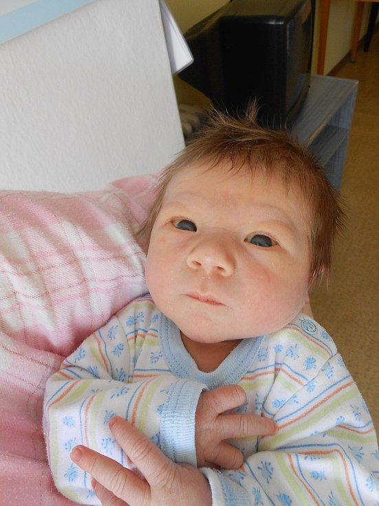 Davídek Chlíbek se narodil 8. března. Vážil 3,31 kg a měřil 50 cm.
