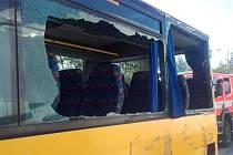 Dopravní nehoda dvou autobusů na silnici I/16 u Bezděčína.