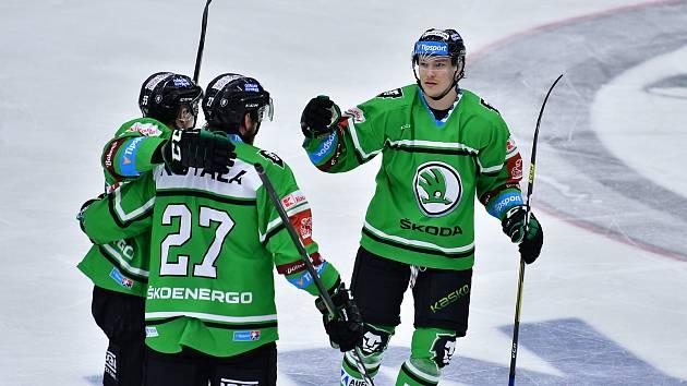 Parádní výsledek. Mladá Boleslav porazila ve 38. kole hokejové extraligy Třinec 3:2.