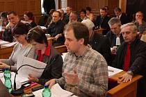 Zastupitelstvo v Mladé Boleslavi (v popředí Robin Povšík a Lenka Lískovcová).