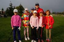 Klára Spilková si zatrénovala v Mladé Boleslavi s mladými golfistkami