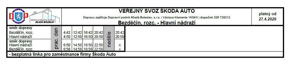 Veřejná doprava - Bezděčín, rozc.