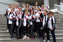 Mažoretky z Kosmonos na mistrovství Evropy v Chorvatsku.