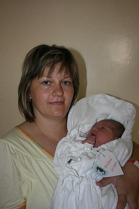 Lilianka přišla na svět 22. 7.  s 4,3 kg a 54 cm. Rodiči jsou Liběna Filipová a Miroslav Mihók z Března.