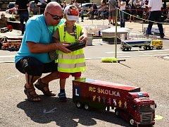 RC Truck školka lákala zejména malé návštěvníky