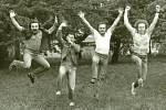 Rocková kapela Diskant z roku 1983. Zleva: František Brunclík, Jaroslav Špička, Vladislav Fanta a Miroslav Horna.