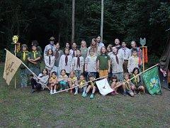 Skautský tábor bělského oddílu Svornost