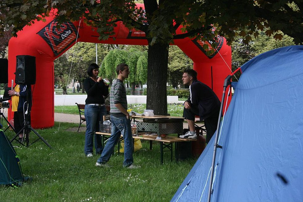 Výstava stanů na výstavišti v Mladé Boleslavi.